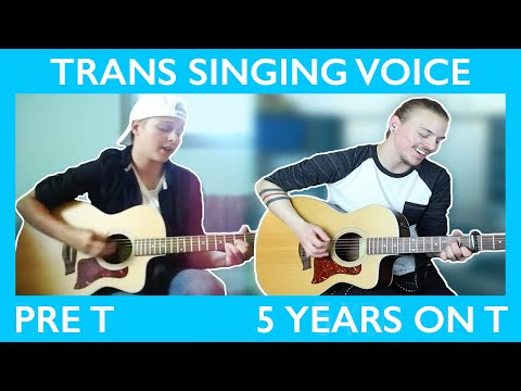 FTM Singing Voice on T Comparison (Pre T to 5 Years) || Jeff Miller