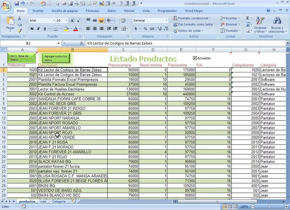 Categorias Y Productos Creando Un Inventario Inicial