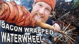 Steak Wrapped In Bacon & Cooked On The Bushcraft Waterwheel (Show Us Your Steak Challenge)
