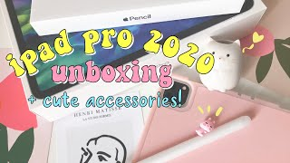 unboxing 🍎ipad pro 2020 11-inch + cute accessories🧸✨