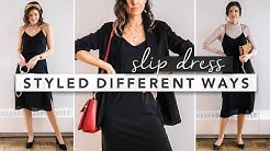 1 Outfit Styled 3 Different Ways: The Slip Dress | by Erin Elizabeth