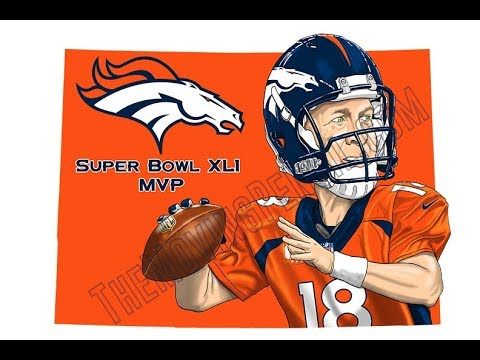 How to Draw Peyton Manning