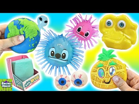 Cutting Open Squishy Toy Eyeballs! Softest Ever Squishy Marshmallow New Putty Peeps Doctor Squish