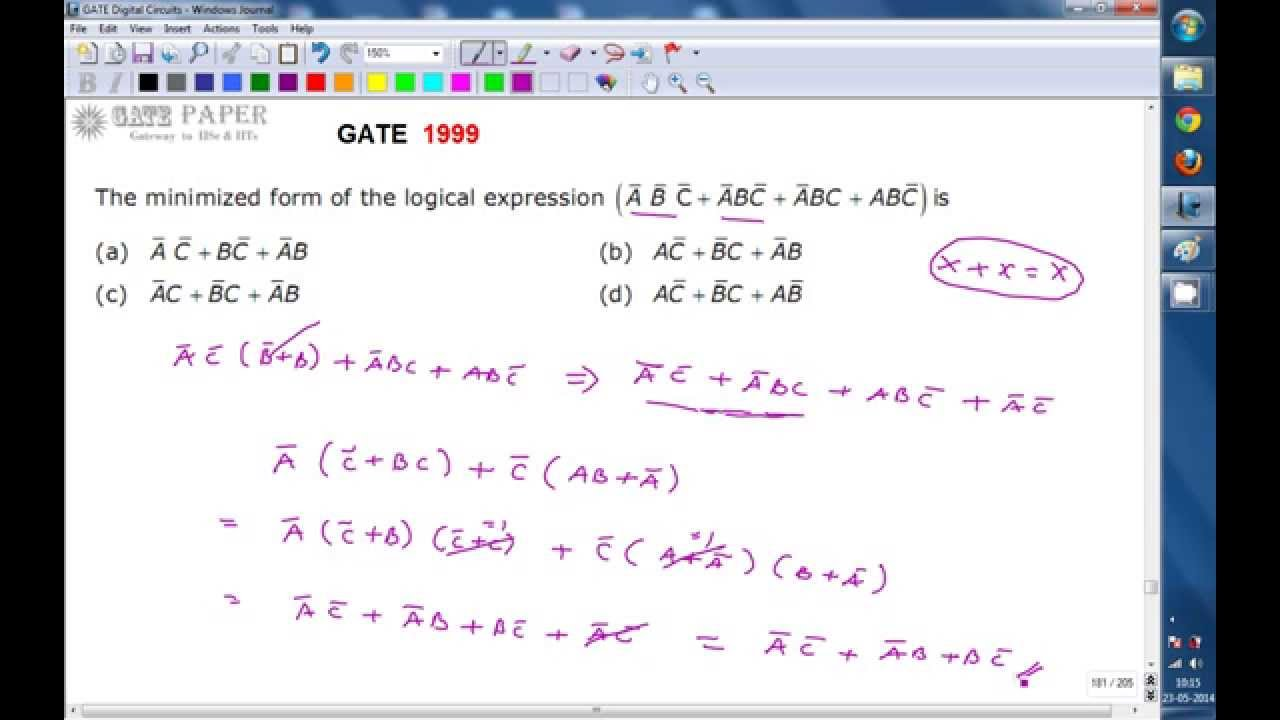Gate 1999 ece minimized form of logical expression abc abc gate 1999 ece minimized form of logical expression abc abc abc abc falaconquin