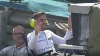 New funny video of my favourite driver, fernando alonso, doing the cameraman with vary bad result after a problem his mclaren! it looks like tradition...