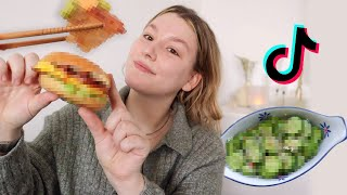 Tiktok recepten testen!! 🥯 cook with me