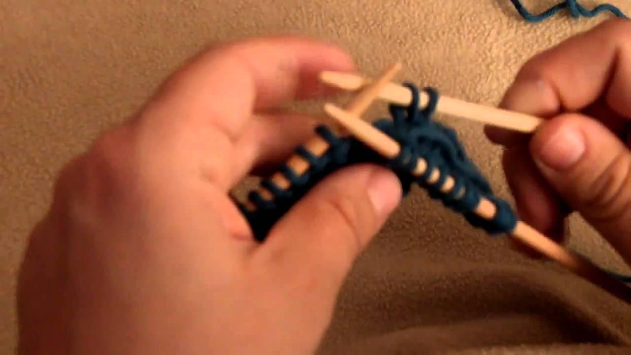 Apprendre à tricoter : torsade, 4 mailles croisées vers la gauche  YouTube