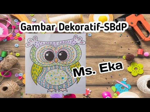 Sbdp Membuat Hiasan Gambar Dekoratif Materi Kelas 3 Sd The Champion School Bali Gambar Dekoratif Youtube