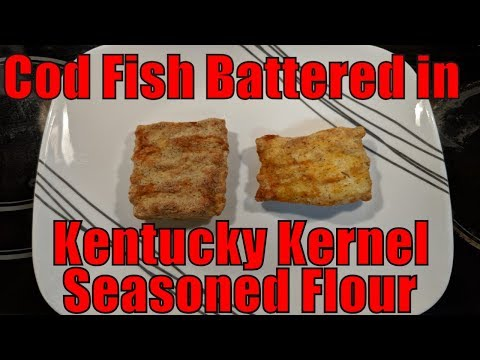 GoWISE USA Air Fryer - Cod Fish With Kentucky Kernel Seasoned Flour And Chef Tony's Grilling Grate