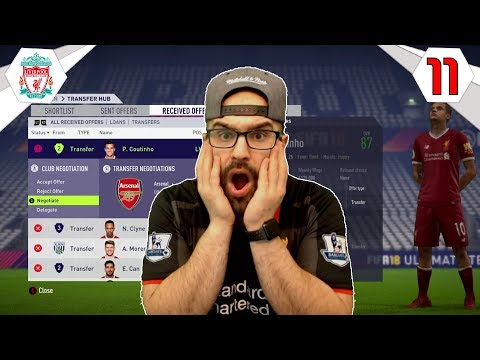 ARSENAL OFFER HUGE MONEY FOR PHILIPPE COUTINHO!! - FIFA 18 LIVERPOOL CAREER MODE #11