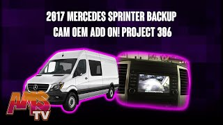 2017 mercedes sprinter backup cam oem add on project 306