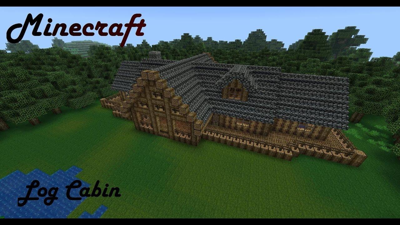 Minecraft mansion log cabin youtube