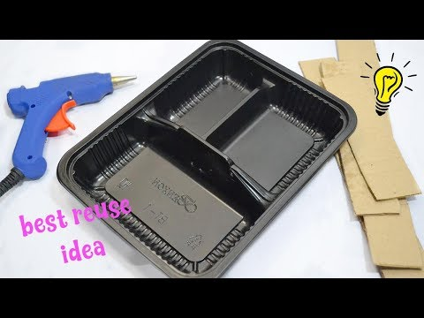 Best Reuse Idea With Plastic Food Container| How To Recycle Container Box