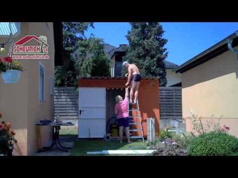 Siebau Metallgerätehaus PGH 7 Gartenhaus Montage Aufbauvideo