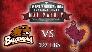 197 Taylor Meeks v Chris Penny - 2014 EAS / NWCA D1 National Duals - [OSU vs VT]