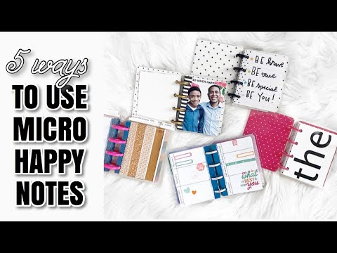 5 Creative Ways To Use Micro Happy Notes | At Home With Quita