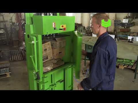 Гидравлический пресс RTV 4 для макулатуры (бумаги, картона), пэт бутылок и мусора