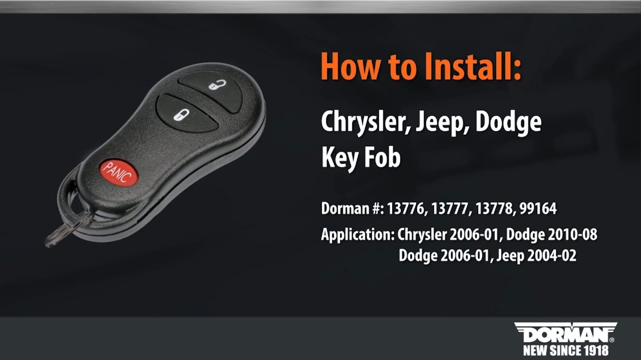 Chrysler, Jeep and Dodge Key Fob Programming by Dorman Products on
