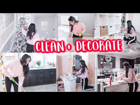 CLEAN, DECORATE, ORGANIZE & DECLUTTER WITH ME // ALL DAY CLEANING MOTIVATION 2019
