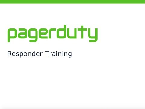 PagerDuty On-Call Responder Training