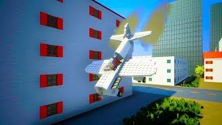 Lego Airplane Falls Crashes #6   Brick Rigs