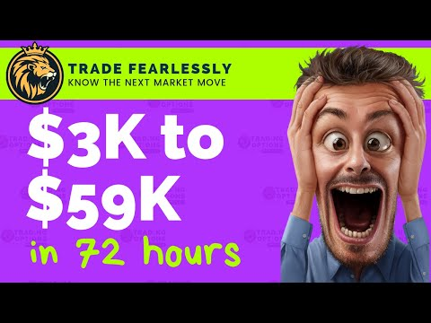 TRADING OPTIONS LIVE 3k to 59k in 72 hours, TRADING WEEKLY OPTIONS LIVE, SHORT SELLING MARKET CRASH