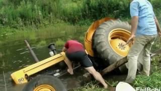 Śmieszne wpadki i wypadki traktorów