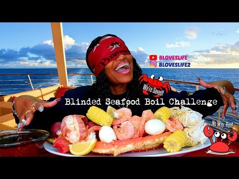 Blinded Seafood Boil Mukbang starts @ 4:45