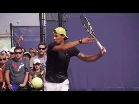 Rafael Nadal Reverse Forehand & Backhand & Serve