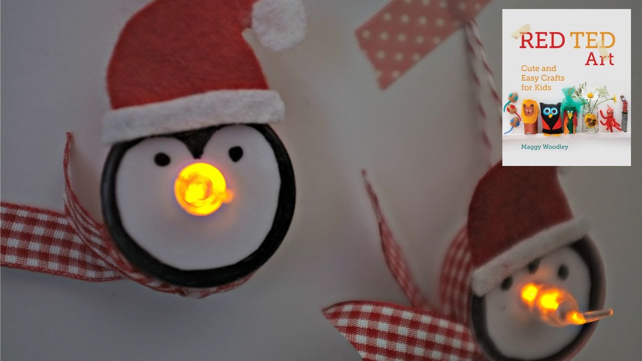 Christmas Crafts Tea Light Penguin Ornaments For Christmas Youtube