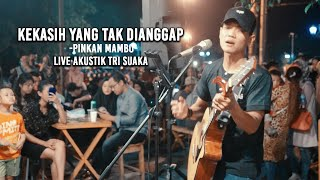 Download KEKASIH YANG TAK DIANGGAP - KERTAS (LIRIK) LIVE AKUSTIK COVER BY TRI SUAKA - PENDOPO LAWAS
