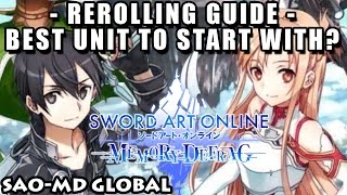 Finally Global Release! Rerolling Guide : Best Unit To Start With? (Sword Art Online Memory Defrag)