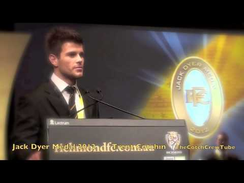 Trent Cotchin Jack Dyer Medal 2012