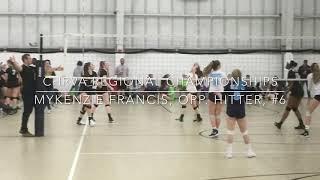 Mykenzie Francis CHRVA Championship Volleyball Highlights