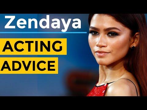 EUPHORIA Zendaya Acting Advice
