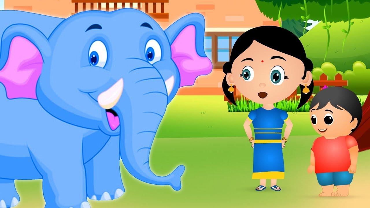 Hathi Raja kahan Chale Nursery Rhyme - Hindi Rhymes by Jo Jo Kids   हाथी  राजा कहाँ चले Hindi Balgeet