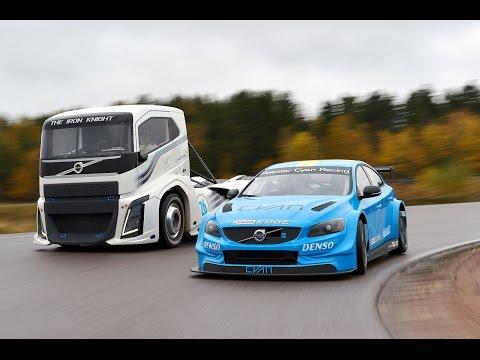 Volvo a filmé un duel insolite entre un camion de course et une S60 de WTCC.