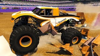 MONSTER JAM ARENA CARNAGE! - BeamNG Drive Monster Truck Stunts and Crashes