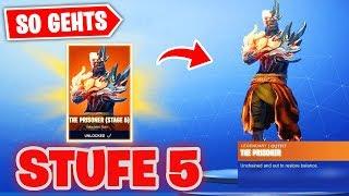 So SCHALTEST you soon *STUFE 5* from Prisoner Snowfall Skin FREE! | Fortnite Season 8 Keys