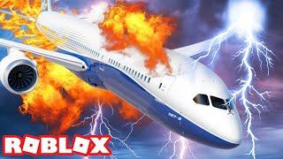 EU SOBREVIVI UM ACIDENTE AVION! ROBLOX (simulador de vôo piloto de treinamento)