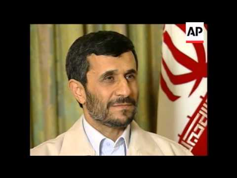 Iranian President Mahmoud Ahmadinejad Talks With The Associated Press On His World View.