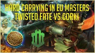 Shuffle Fate   Hard Carrying in EU Masters   Twisted Fate vs Corki   #673