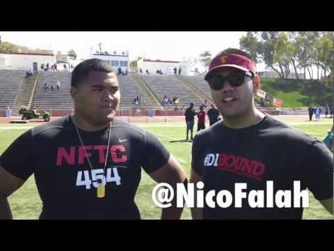 Damien Mama: NFTC Camp OL MVP - St John Bosco HS (CA) 2014 w/ Nico Falah - CollegeLevelAthletes.com