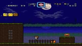 SMW Custom Level - Moonlight Graveyard