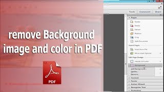 كيفية إزالة PDF صورة الخلفية و لون باستخدام adobe Acrobat Pro