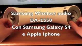 Samsung Audio Dock DA-E550 Collegato con Samsung S4