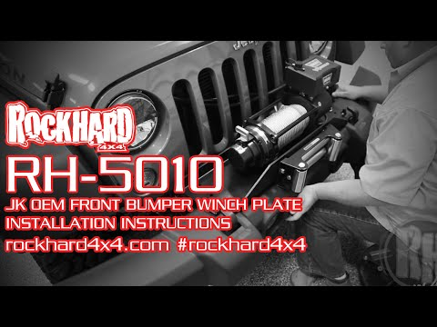 RH-5010 – Jeep JK Winch Mounting Plate – Install Instructions Video by Rock Hard 4x4