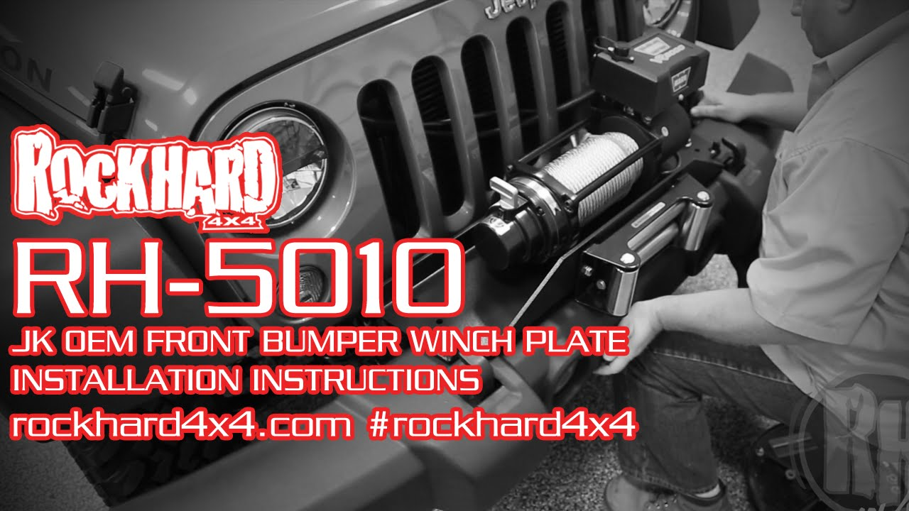 maxresdefault rh 5010 jeep jk winch mounting plate install instructions  at crackthecode.co