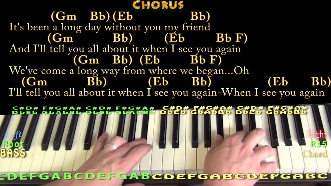 See you again wiz khalifa piano cover lesson in gm with chords see you again wiz khalifa piano cover lesson in gm with chordslyrics hexwebz Image collections