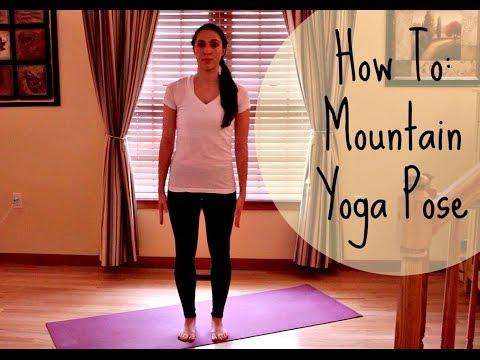 how to tadasana  mountain pose  yoga for beginners